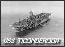 USS Ticonderoga cv14 Leaving San Diego Sept. 1944