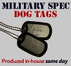 Military Dog Tag Set - Embossed